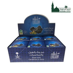 Ajwa with nuts and cardamom -12  packet / 7 dates -   010124