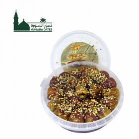 Sukare Dates Filled with almonds , sesame cover honey- 500gm - 011103